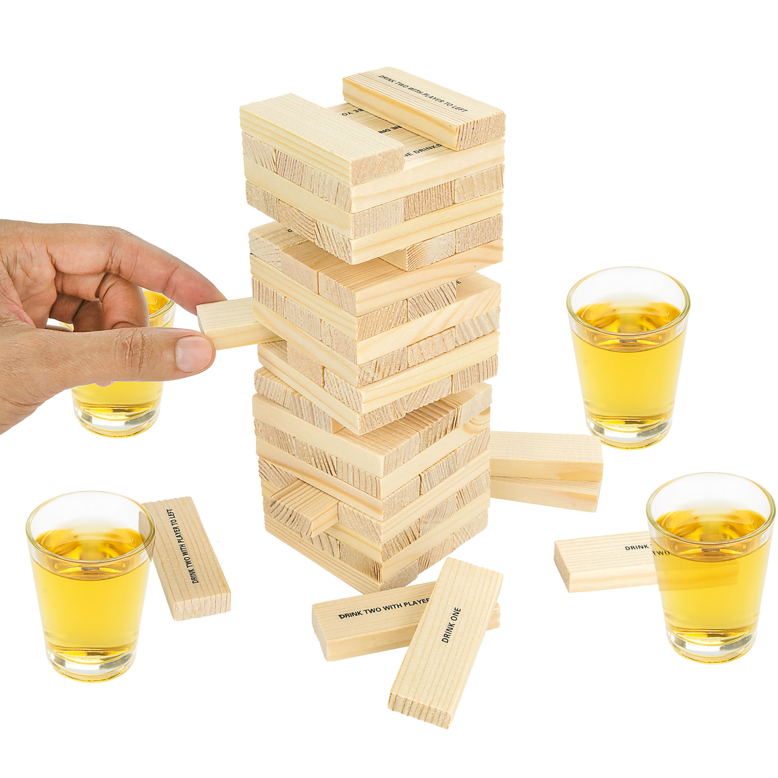 Dunken Blocks Shot Glass Drinking Game, A Tower Of Fun!