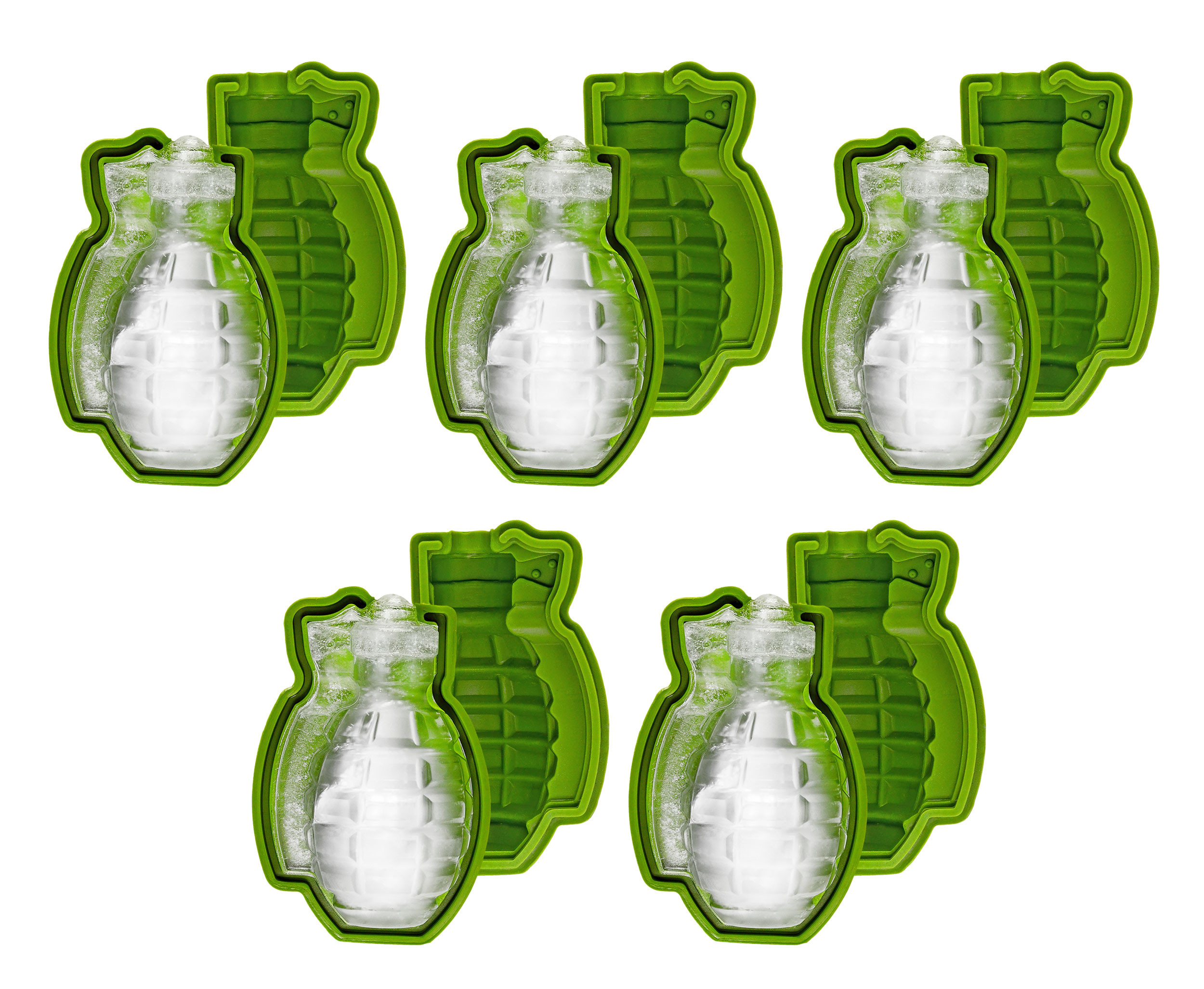 Grenade Ice Cube Mould, 5 Pack