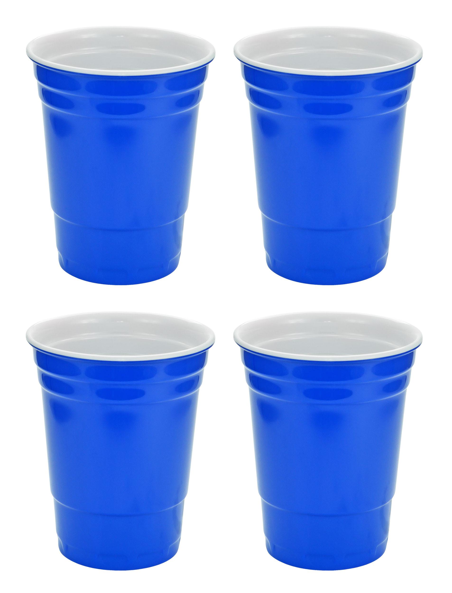 Blue Hard Plastic Cup 16oz - 4 Pack