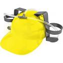 Beer & Soda Guzzler Helmet & Drinking Hat, Yellow